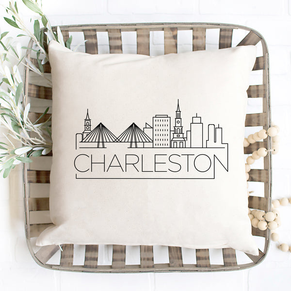 Charleston Skyline Pillow Cover
