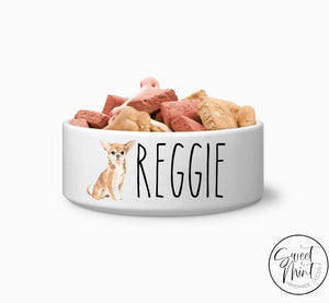 Chihuahua Breed Custom Dog Bowl Personalized Pet
