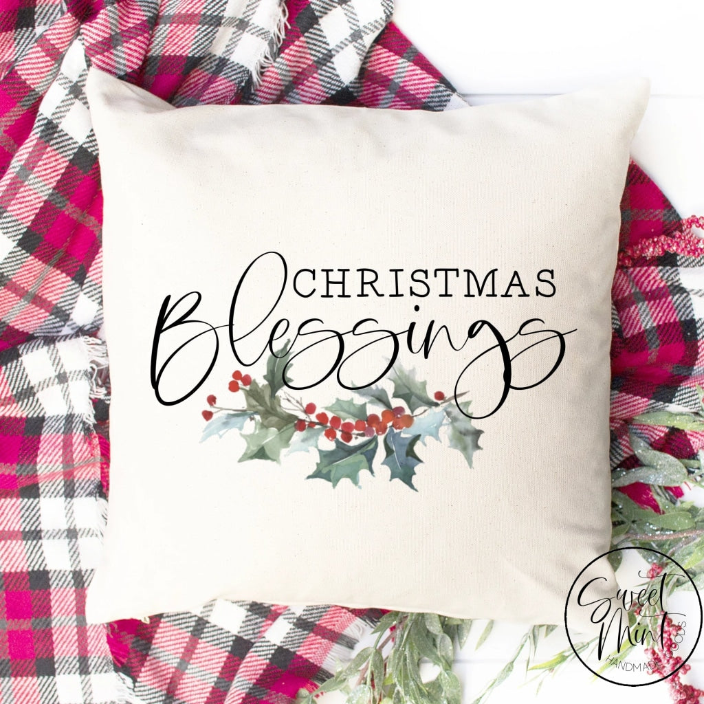 Christmas Blessings Pillow Cover - 16 X