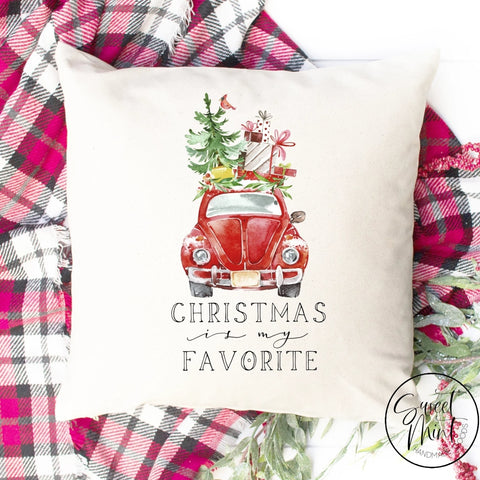 Christmas Is My Favorite Pillow Cover - 16 X