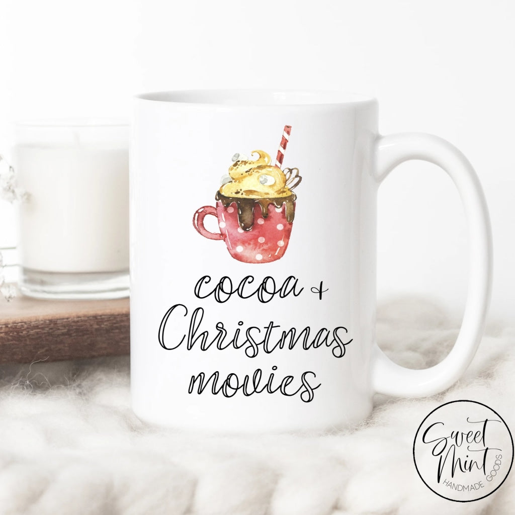 Cocoa And Christmas Movies Mug