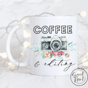 Coffee And Editing Mug - Wedding Photographer Gift Mug