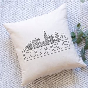 Colombus Skyline Pillow Cover