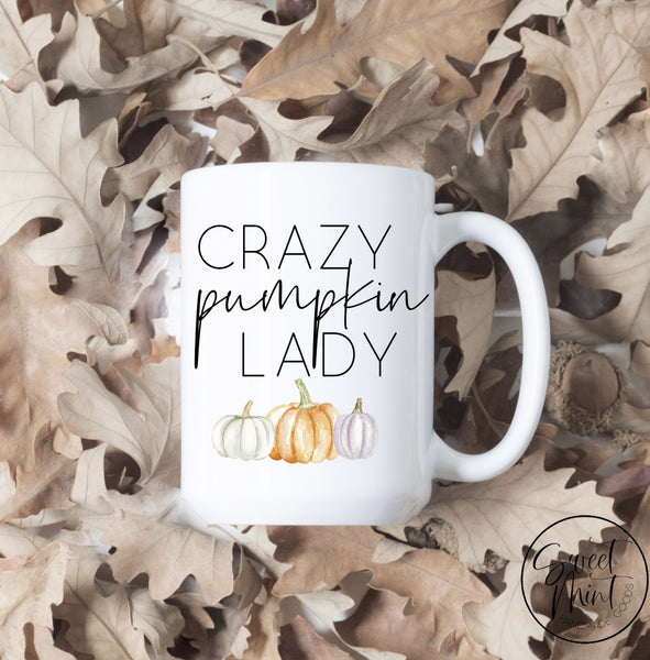 Crazy Pumpkin Lady Fall Mug - Autumn Cup