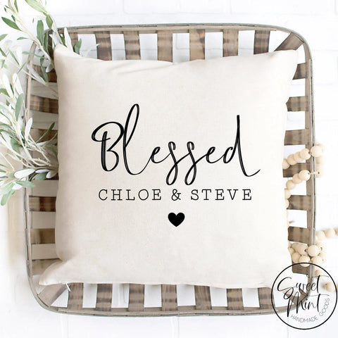 Custom Blessed Pillow Cover - 16X16