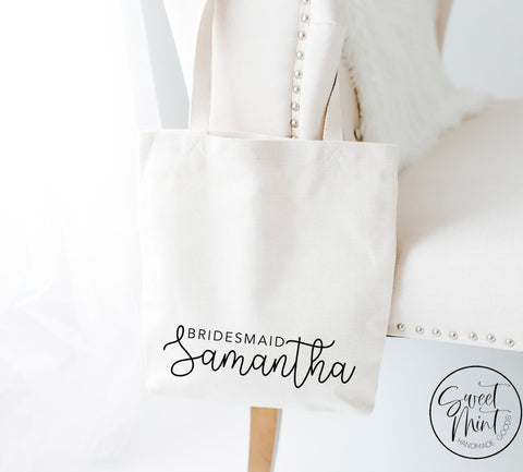 Custom Bridesmaid Bag Tote