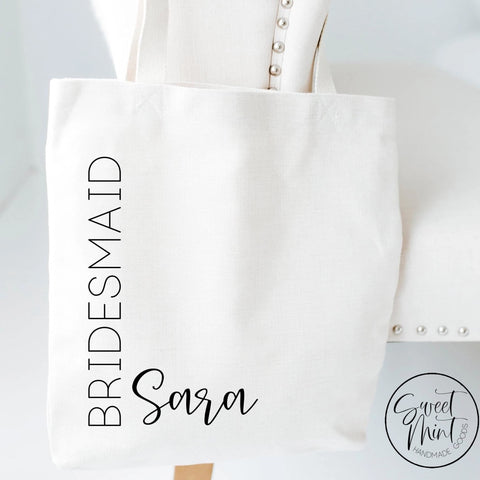 Custom Bridesmaid Tote Bag