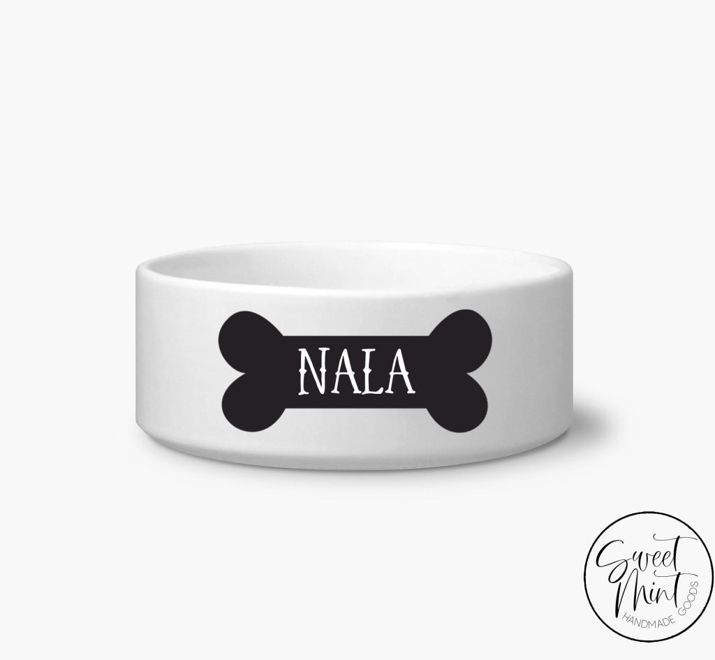 Custom Dog Bone Pet Bowl- Personalized / Cat Bowl