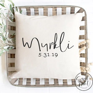 Custom Last Name Pillow Cover - 16X16