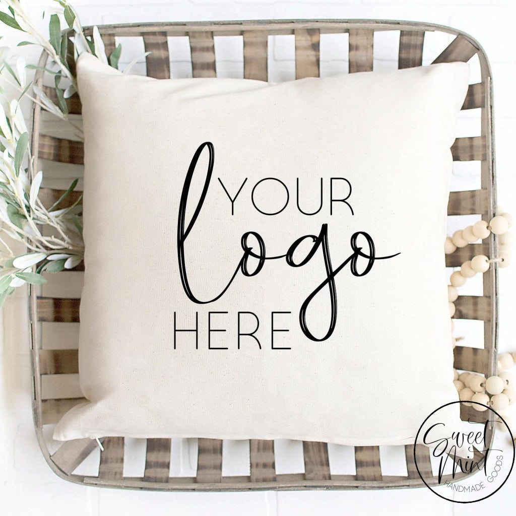 Custom Logo Pillow Cover - 16X16