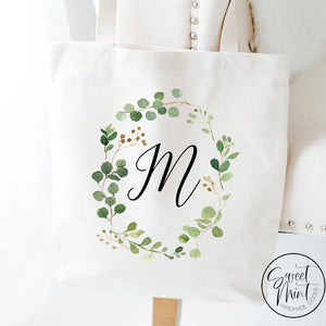 Custom Monogram Tote Bag