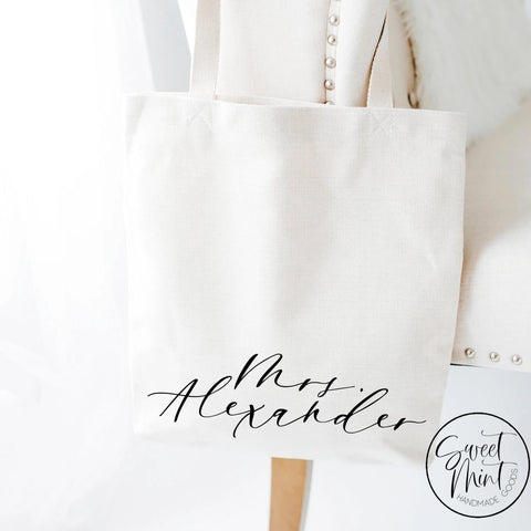 Custom Name Tote Bag