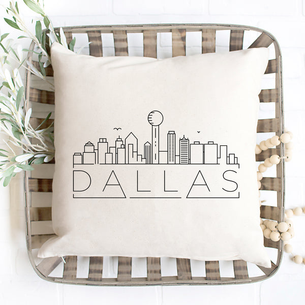 Dallas Skyline Pillow Cover