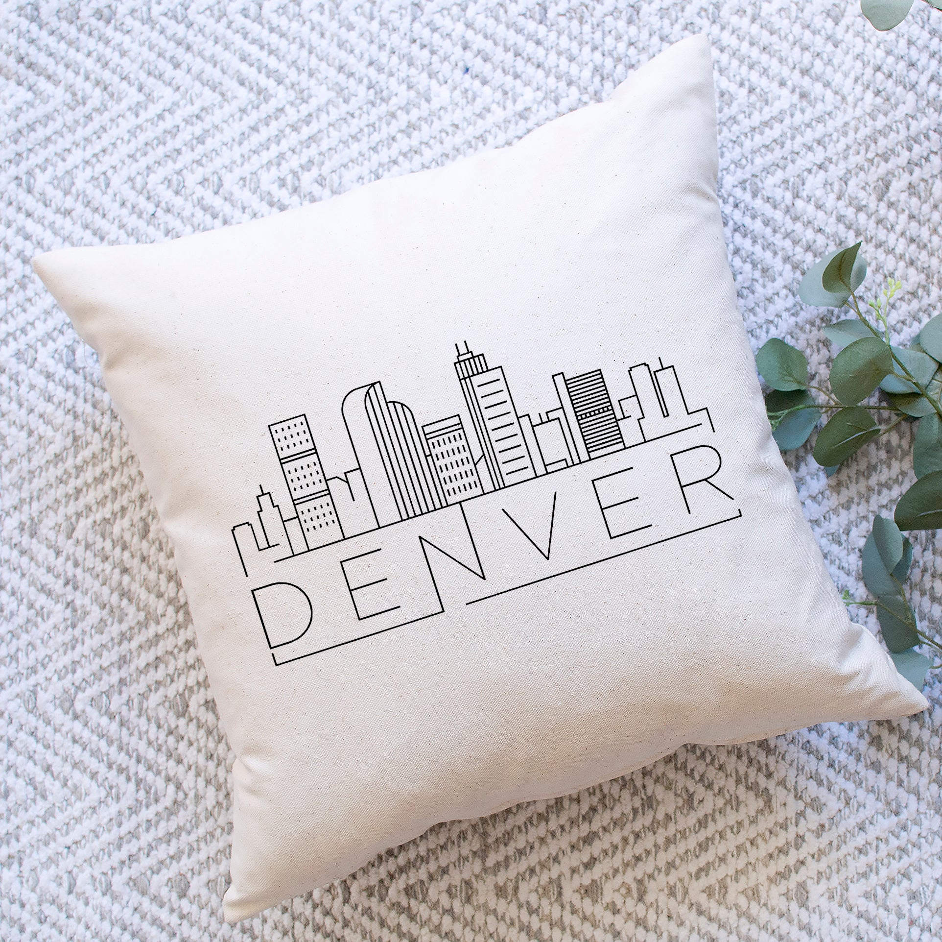 Denver Skyline Pillow Cover