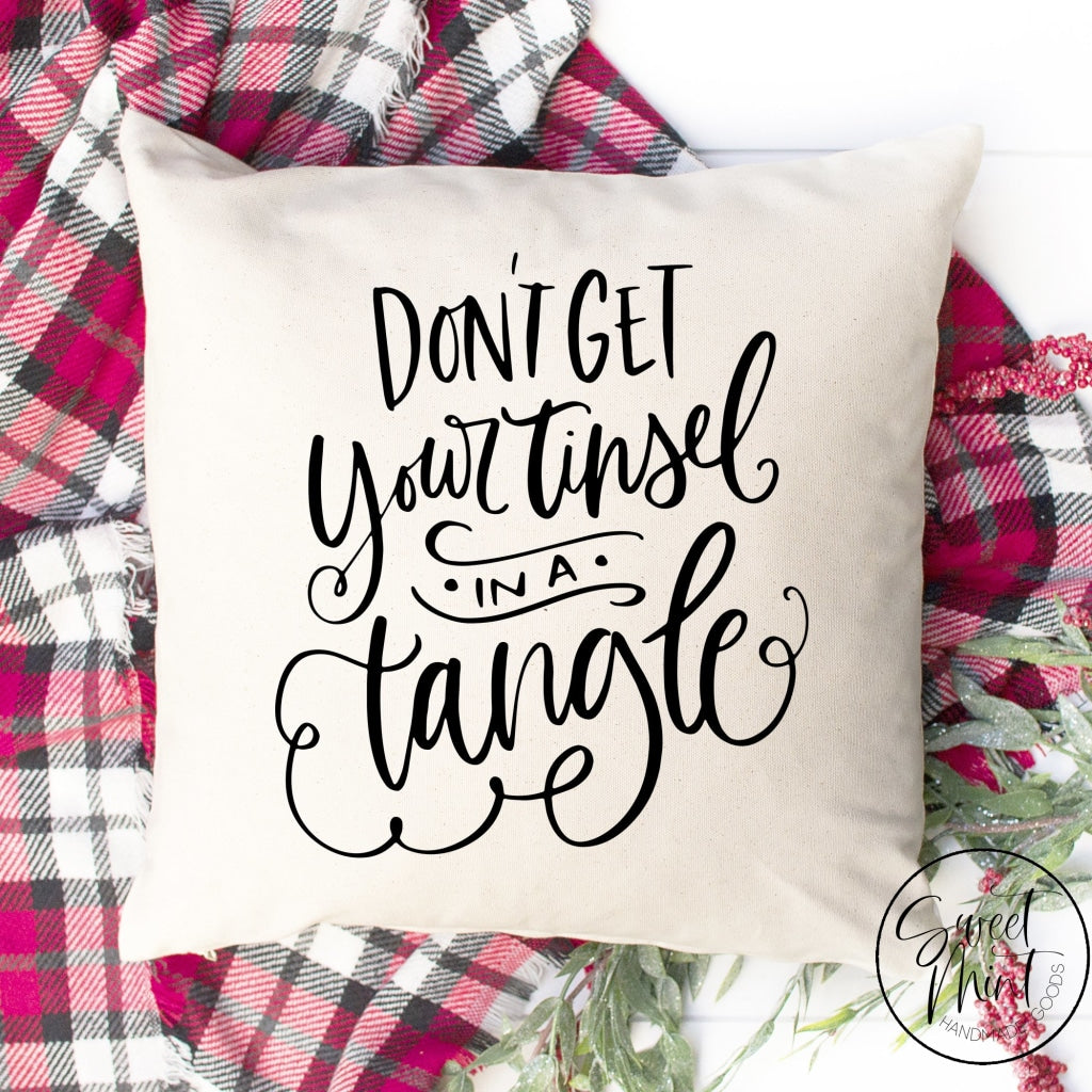 Dont Get Your Tinsel In A Tangle *new* Pillow Cover - 16 X