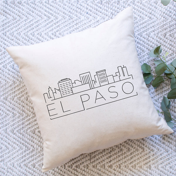 El Paso Skyline Pillow Cover