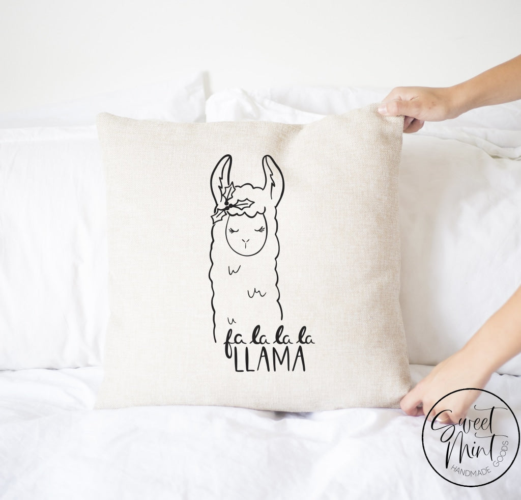 Fa La Llama Christmas Pillow Cover - 16 X