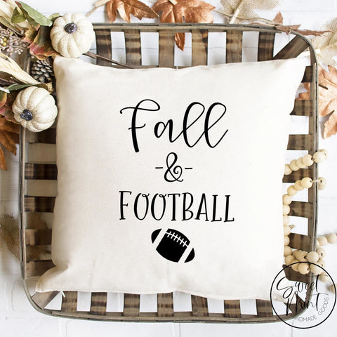 Fall And Football Pillow Cover / Autumn - 16X16