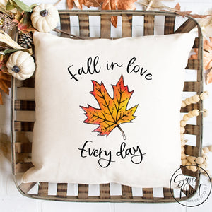Fall In Love Every Day Pillow Cover - 16 X