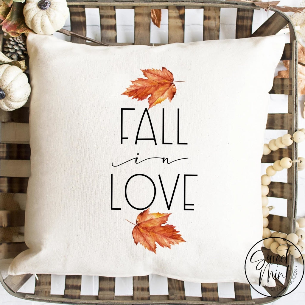 Fall In Love Leaves Pillow Cover - / Autumn 16X16