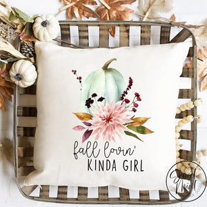 Fall Lovin Kinda Girl Pillow Cover - / Autumn 16X16