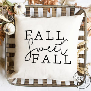 Fall Sweet Capitalized Pillow Cover - / Autumn 16X16