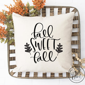 Fall Sweet Script Pillow Cover - / Autumn 16X16