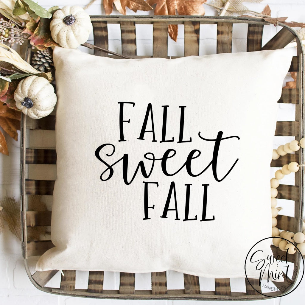 Fall Sweet Tall Letters Pillow Cover - / Autumn 16X16