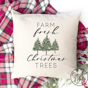 Farm Fresh Christmas Trees Pillow Cover - 16 X