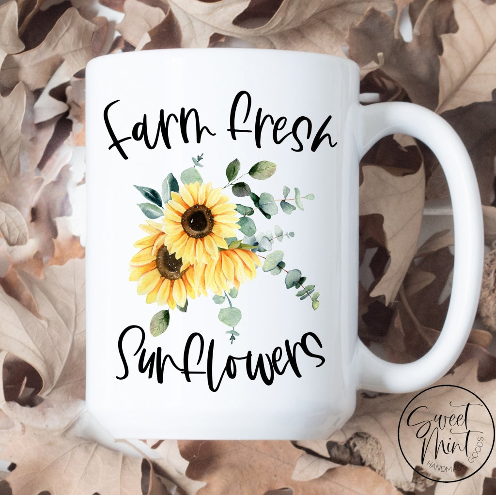 Farm Fresh Sunflowers Fall Mug