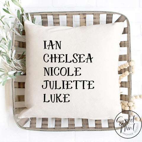 First Names Custom Pillow Cover - 16X16