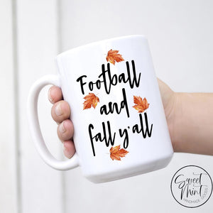 Football And Fall Yall Mug - / Autumn