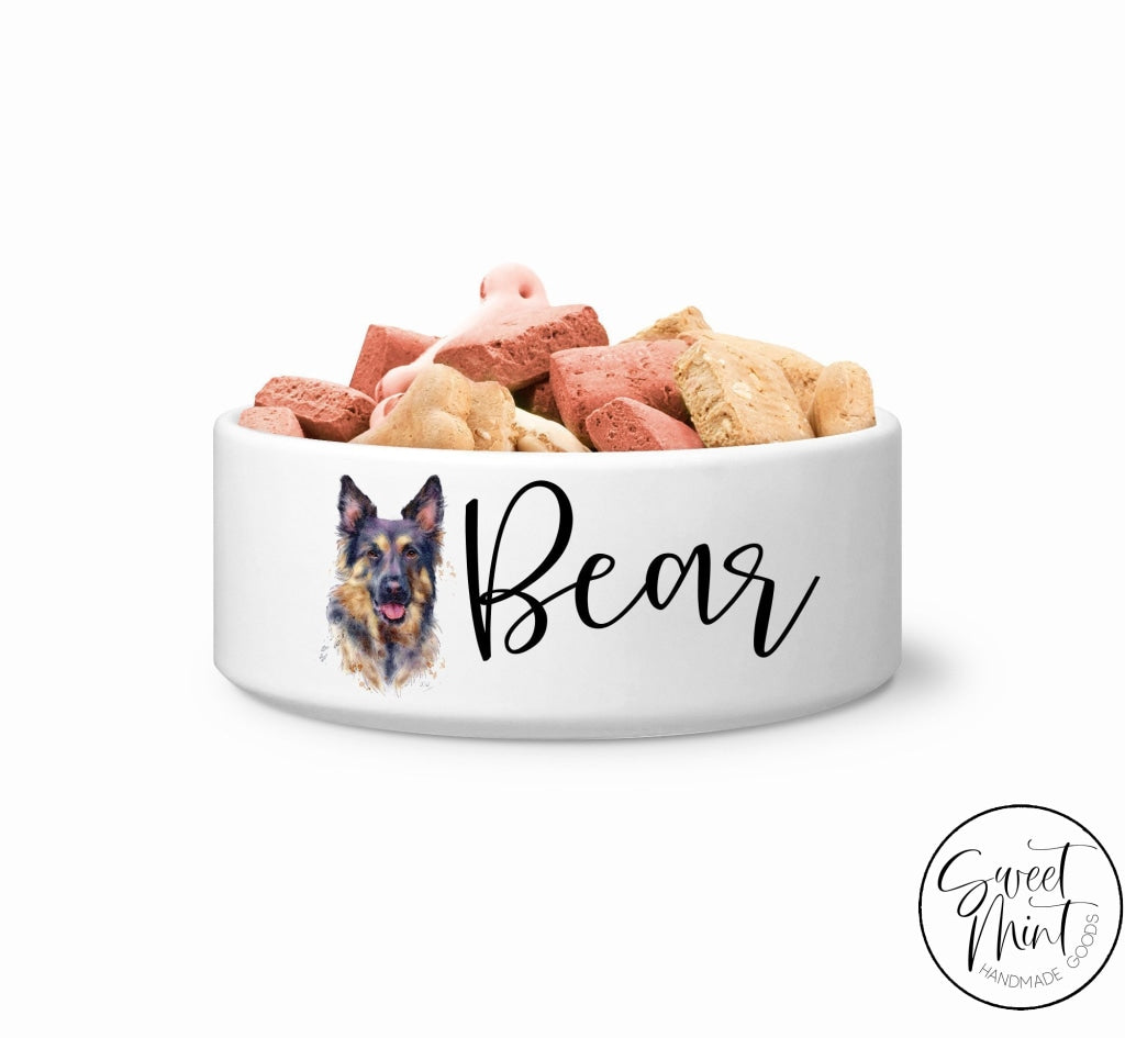 German Shepherd Custom Dog Bowl Pet