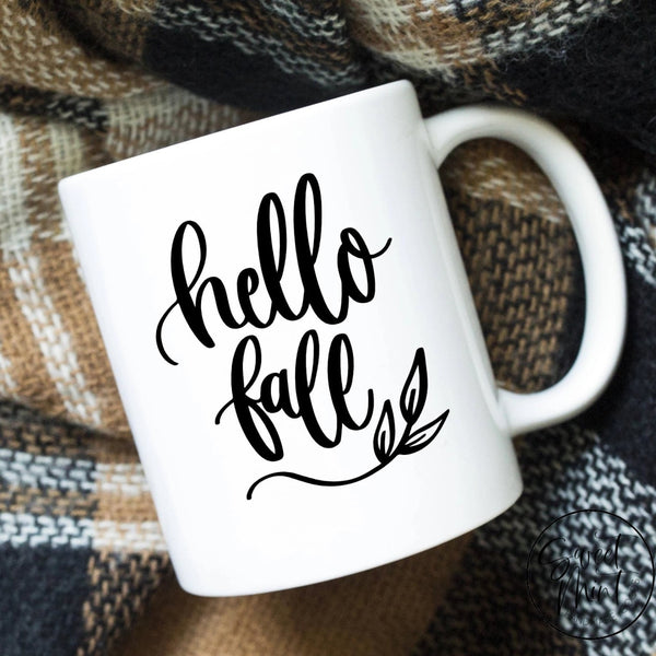 Hello Fall Mug - Autumn