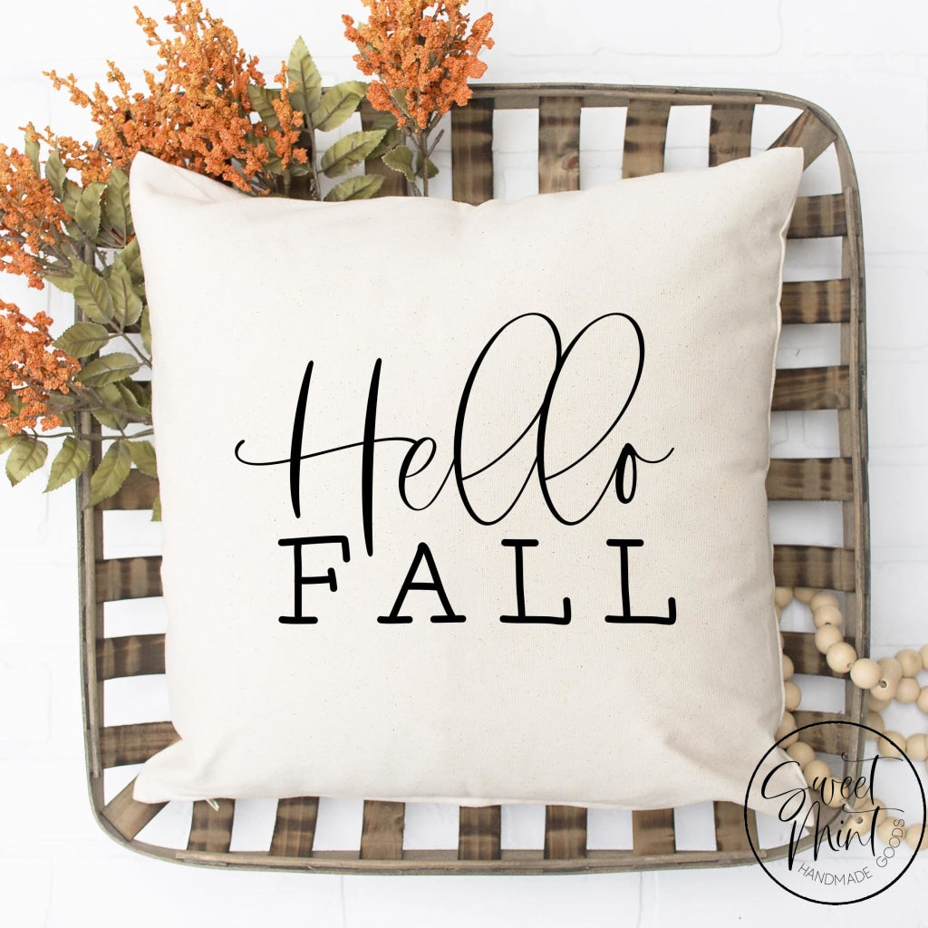 Hello Fall Pillow Cover - / Autumn 16X16