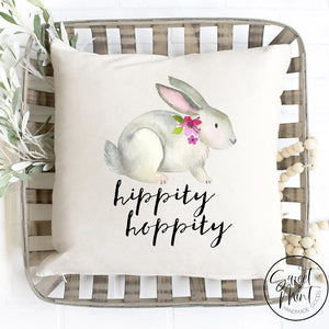 Hippity Hoppity Rabbit Pillow Cover - 16X16