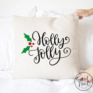 Holly Jolly Pillow Cover - 16 X