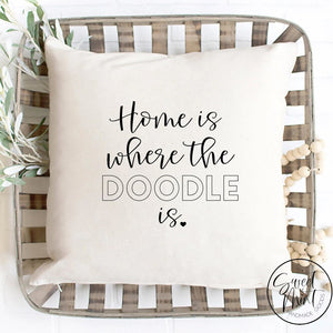 Home Is Where The Doodle Pillow Cover - 16X16