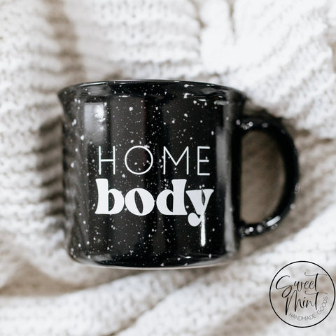 Homebody Black Campfire Mug