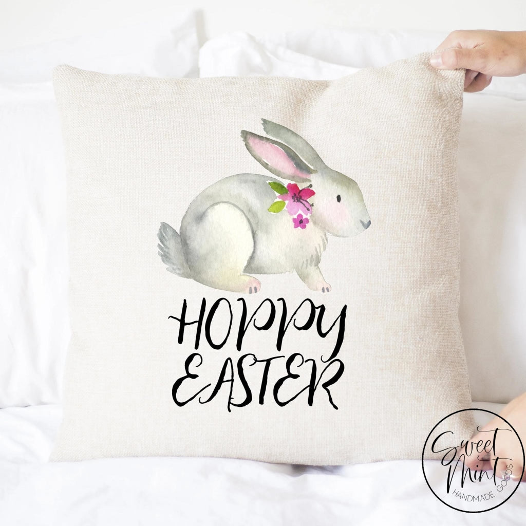 Hoppy Easter Rabbit Pillow Cover - 16X16