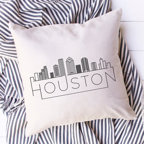 Houston Skyline Pillow Cover