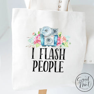 I Flash People Tote Bag Photographer Camera