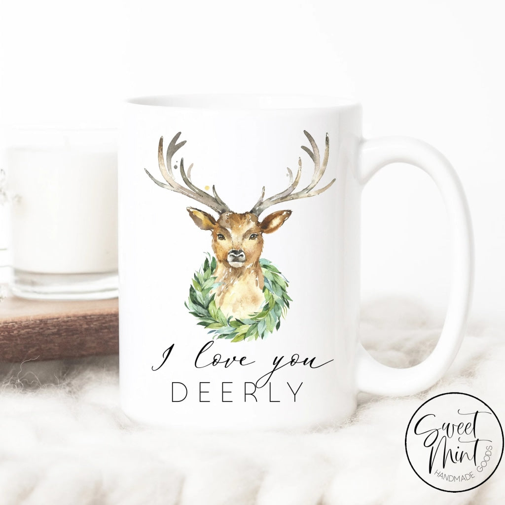 I Love You Deerly Christmas Mug