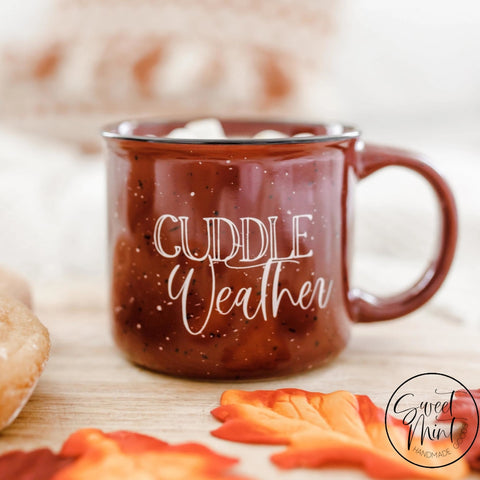 Imperfect Cuddle Weather Campfire Mug - Fall / Autumn Maroon