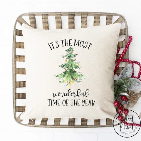 Its The Most Wonderful Time Of Year Tree Pillow Cover - 16 X
