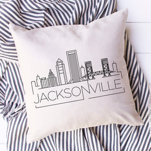 Jacksonville Skyline Pillow Cover