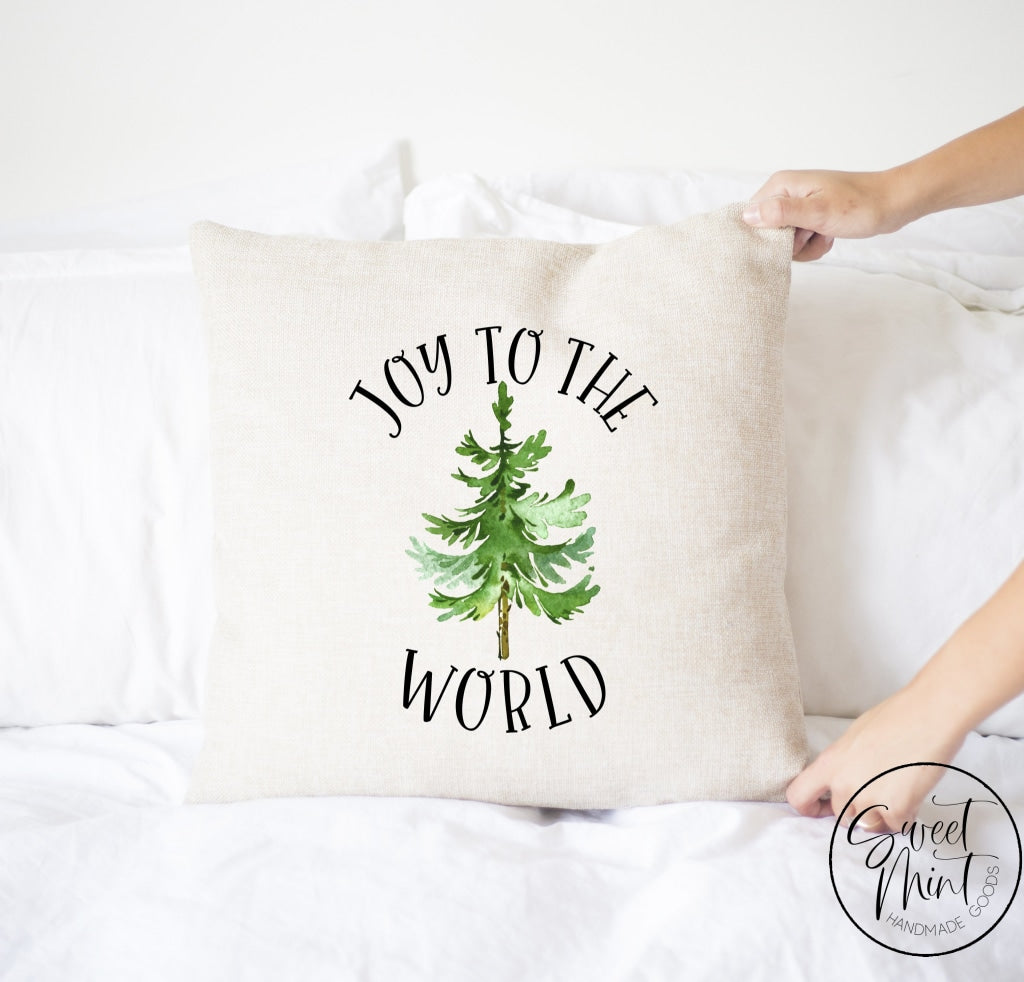Joy To The World Tree Pillow Cover - 16 X