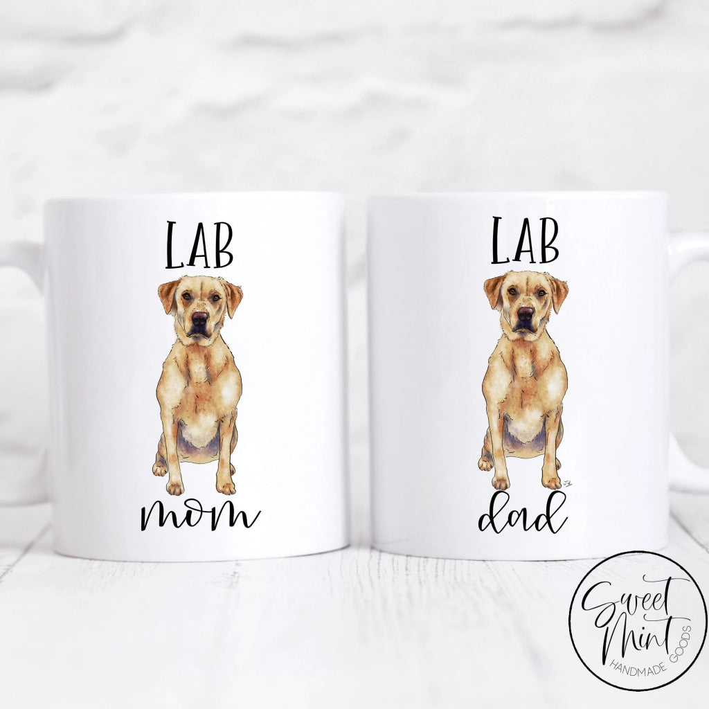 Lab Mom And Dad Mug Pair - Labrador Retriever Set