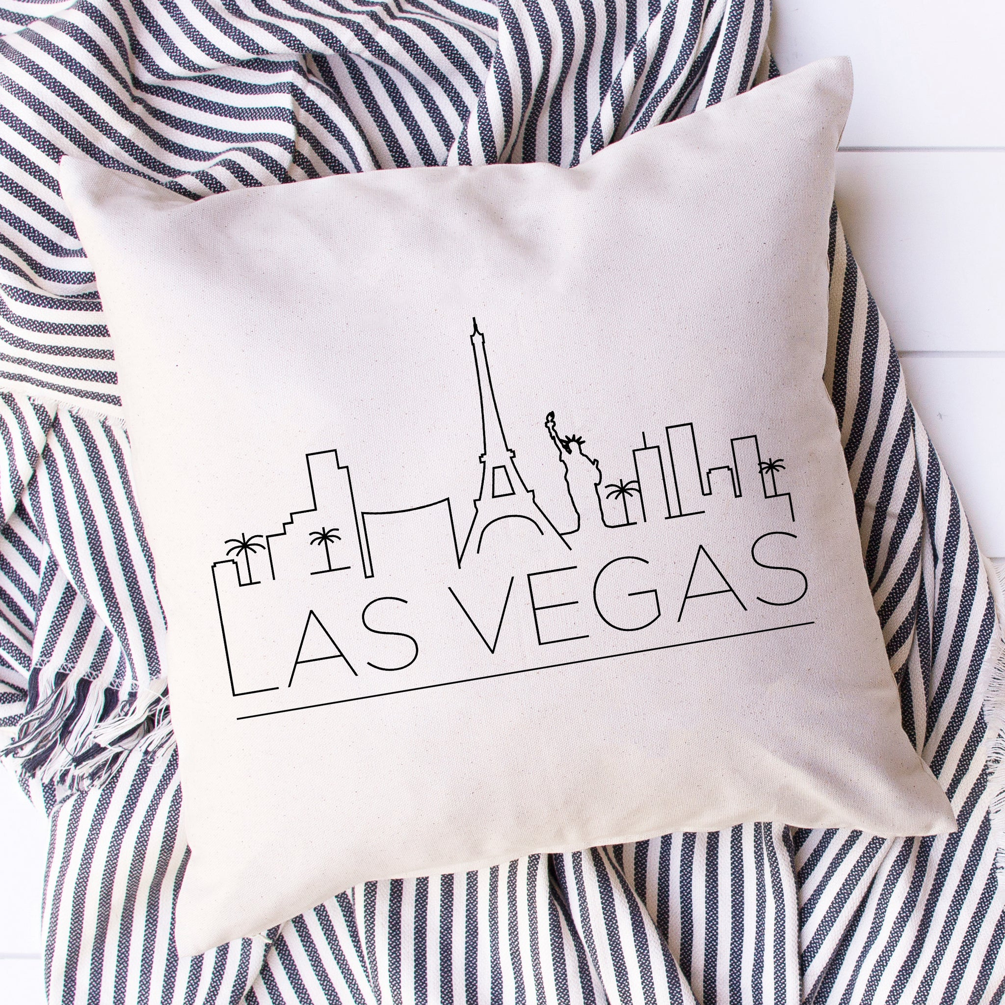 Las Vegas Skyline Pillow Cover
