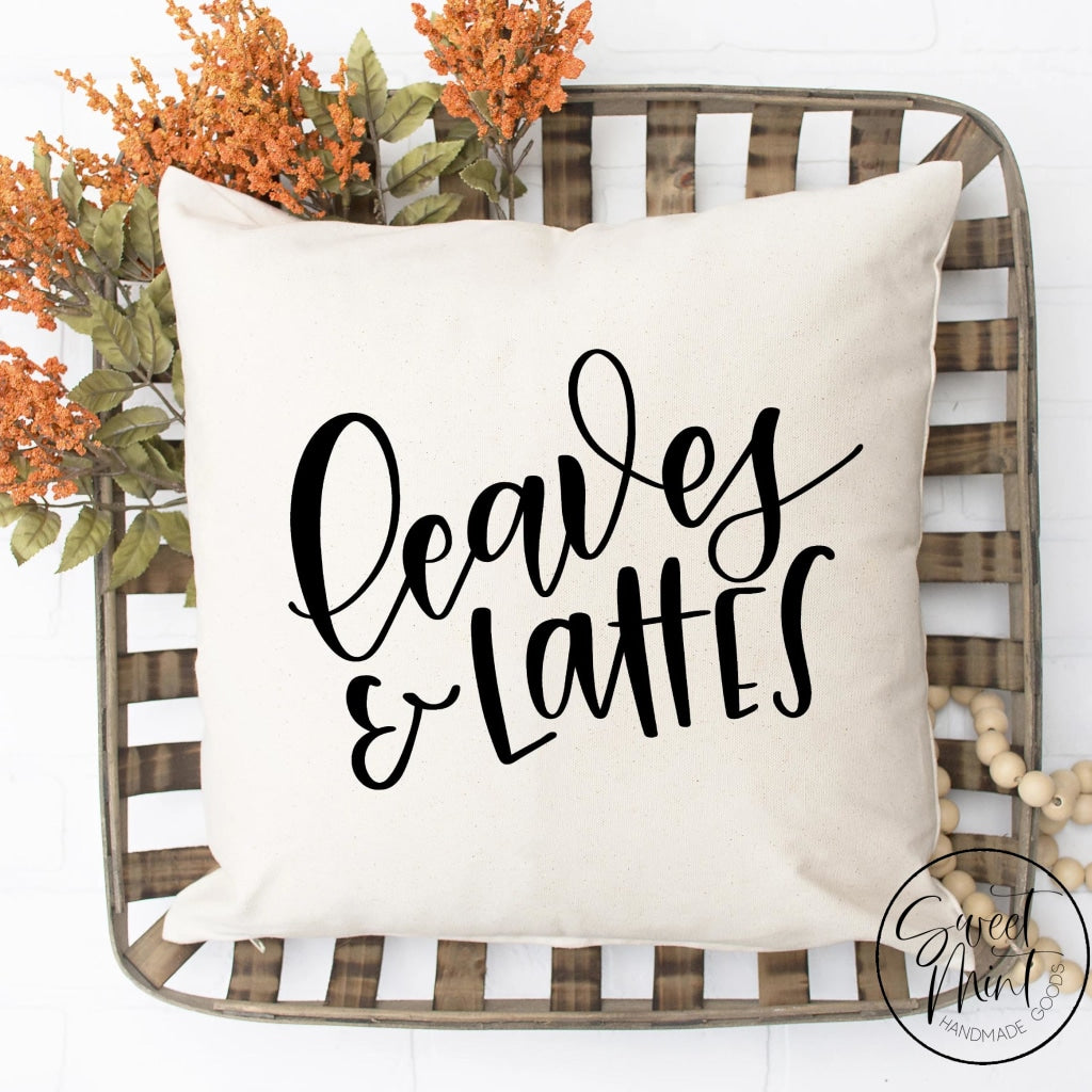 Leaves And Lattes Pillow Cover - Fall / Autumn 16X16